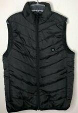 Unilove Soft Fleece Men's Lightweight USB Rechagable Heated Vest,Black,X-Large