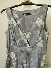 """Great Plains Grey Florals A Line Lined Dress Size M 100% Cotton 42"""" Length"""