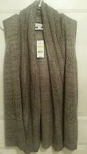 Kim Rogers Sleeveless long sweater Vest size M NWT