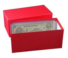Durable Paper Money Bill Box Banknotes Collection Storage Us Large Size Currency