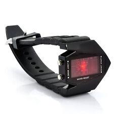 "Stealth Plane Shaped Unisex Digital LED Watch ""Black Arrow"" Changing LED Colors"