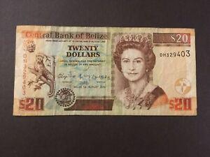 BELIZE 20 Dollars 2010