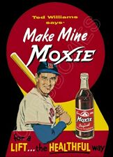 1950's Ted Williams Moxie Die Cut Store Counter Standup Sign Red Sox Repro