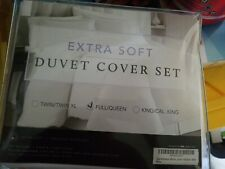 Extra Soft Reversible Solid Duvet Cover Set