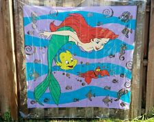 VINTAGE Shower Curtain Bathroom Waterproof Disney Little Mermaid Ariel Sebastian
