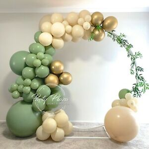 Balloon Garland DIY Kit - 3.8m - 100 Pieces - Eucalyptus & Sand Rustic Wedding