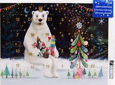"""Mila Marquis DIN A5""""Adventskalender-Karte""""Eisbär*Grußkarte*Weihnachten Glitzer"""