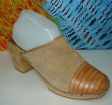 QualiCraft  Beige Brown Mule Woman's Size 10B