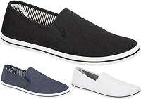 New Mens Canvas Shoes Plimsolls Espadrilles Boys Pumps Trainers Slip On Lace Up