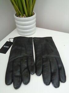 Hugo Boss Black Hainz3  Leather Gloves - size 8.5 GIFT IDEA!