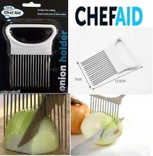 Onion Holder Handy Easy Hold for Cutting aid Chopping Tomato Potato Veg Slicer