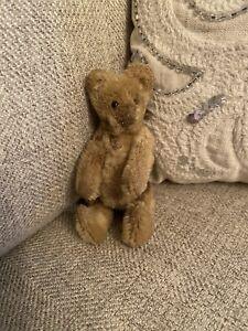 Antique? Steiff? Worn Mohair Teddy Bear Miniature 5-Jointed Light Brown