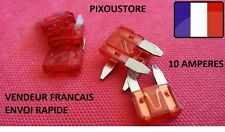 Lot de 5 mini fusibles 10 Amp 10A auto moto scooter automobile voiture 16x11mm