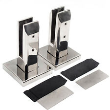 2PCS Stair Glass Spigots Pool Fence Frameless Balustrade Post Clamps Fit 10-12mm