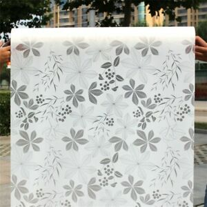 Static Cling Cover Frosted Window Film Sticker Privacy Opaque Office Home Decor