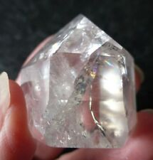 FIRE AND ICE QUARTZ (33.1 grams / 30 mm) POLISHED STANDING CRYSTAL (A3) BRAZIL