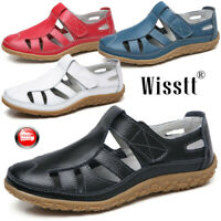 Women Soft Leather Loafer Moccasins Hollow Out Casual Flat Breathable Closed Toe