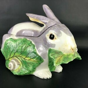 VTG MOTTAHEDEH CHELSEA RABBIT FAT BUNNY EATING LETTUCE TUREEN ITALY Farmhouse