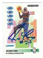 Signed 1991-92 Sky Box Jerome Lane Denver Nuggets Basketball card #305