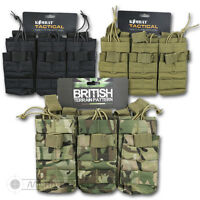 MLCE OPEN TOP TRIPLE DUO AMMO POUCH SA80 M16 BRITISH ARMY MOLLE OSPREY
