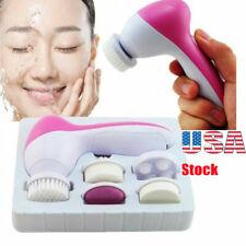 5 in 1 Electric Facial Cleansing Brush Deep Clean Skin Care Massage Exfoliator