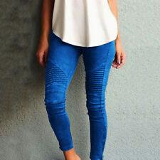 Damen High Waist Stretch Hose Jeans Röhre Skinny Leggings Röhrenjeans Gr.34 - 48
