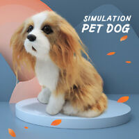 Realistic Simulation King Charles Spaniel Dog Plush Toy Soft Stuffed Puppy Dolls