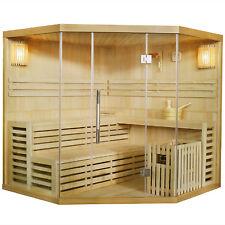 Saunakabine Sauna Ecksauna Trockensauna Saunaofen Massivholz Espoo200 Artsauna®