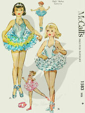Reproduced Vintage Ballet Costume Sewing Patterns M1583 Size 6