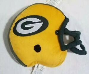 Green Bay Packers Helmet Pillow 15 inches with G logo and face guard