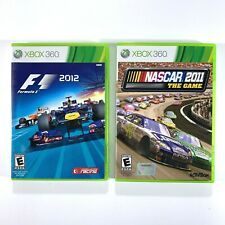 Formula 1 2012 & Nascar 2011 Xbox 360 Lot Of 2 Tested And Works Great VGC