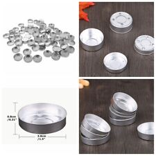 100Pcs Aluminum Candle Making Tealight Empty Case Tea Light Tins Containers