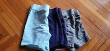 Justice 3 Pair Shorts Size 10 Blue Gray navy