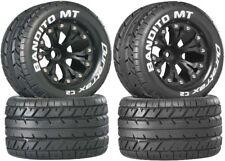 NEW Duratrax Bandio MT Tires Wheels 4 Nitro Jato Stampede Rustler F / R (4)