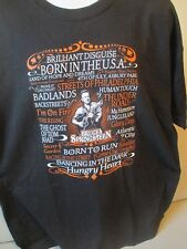 Bruce Springsteen Guitar Playing Song Hits T Shirt Black Sz 2Xl