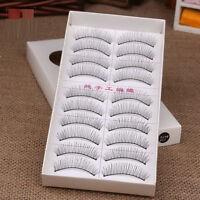 10 Pairs Natural Cross Naked makeup Stylish False Eyelashes Eye Lashes Extension