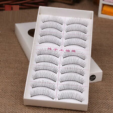 10 Pairs Natural Cross Naked makeup Stylish False Eyelashes Eye Lashes Extension