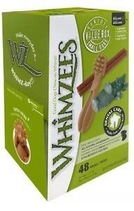 Whimzees Variety Box Small 48 Pack - Dog Treats Chews Bulk Natural Dental Reward