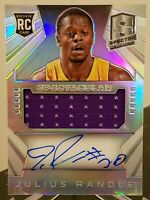 JULIUS RANDLE RC ON CARD AUTO JERSEY #30/35 2014-15 SPECTRA PRIZM RPA KNICKS 1/1