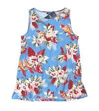 Chaps - Plus 1X - NWT $50 - Tropical Floral Parrot Print 100% Cotton Tank Top