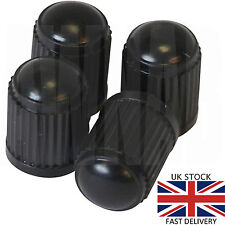 4 x Black Plastic Valve Dust Caps Car Bike Cycle Bicycle Truck Quad BMX Scooter