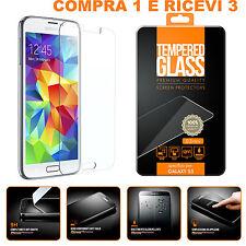 PELLICOLA VETRO TEMPERATO per SAMSUNG GALAXY S5 G900 I9600 PROTEGGI SCHERMO LCD