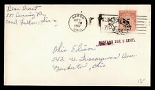 DR WHO 1967 AKRON OH SLOGAN CANCEL TO BARBERTON OH POSTAGE DUE  f25383