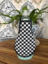Black White Checkered Flag Nascar Bath Kitchen Decor Bottle Apron - fits 25 oz