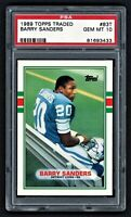 1989 TOPPS TRADED BARRY SANDERS #83T DETROIT LIONS HOF ROOKIE RC PSA 10 GEM MINT