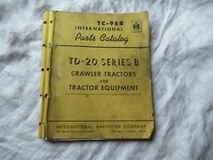 International TD-20 crawler tractor parts catalog manual