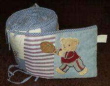 "Kidsline ""Play Ball"" Baby Crib Bumper Pad-Teddy Bear/Sports"