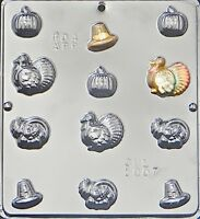 Thanksgiving Assortment Chocolate Candy Mold Thanksgiving  1007 NEW