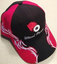 Wheel Horse Red, White & Black Embroidered Solid Flame Hat