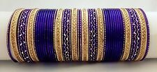 Indian Bollywood 48pcs Purple Colored fashion Bridal Bangles Set Jewelry 2.8.